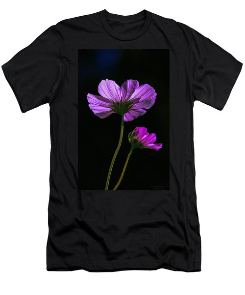 Backlit Blossoms Men's T-Shirt (Athletic Fit)
