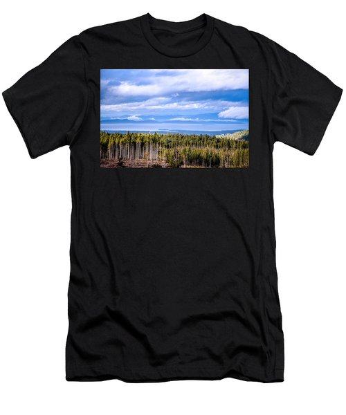 Johnstone Strait High Elevation View Men's T-Shirt (Athletic Fit)