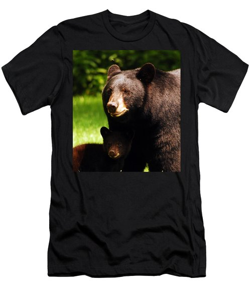 Backyard Bears Men's T-Shirt (Slim Fit) by Lori Tambakis