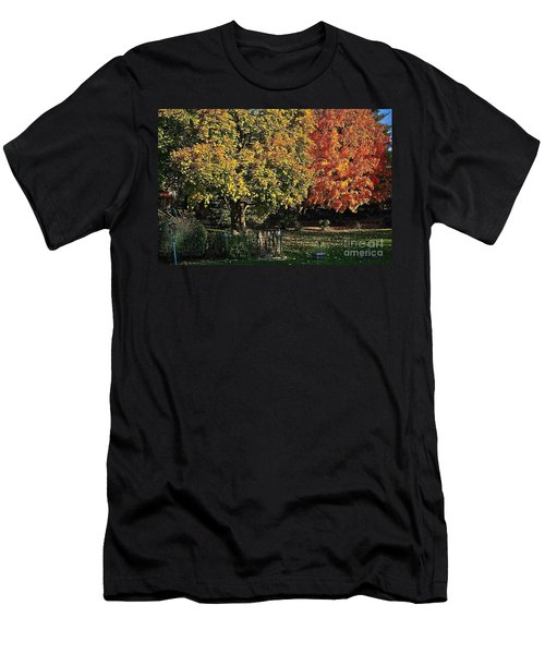 Backyard Morning In The Fall Men's T-Shirt (Athletic Fit)