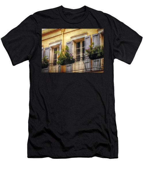 French Quarter Balcony Men's T-Shirt (Slim Fit) by Valerie Reeves