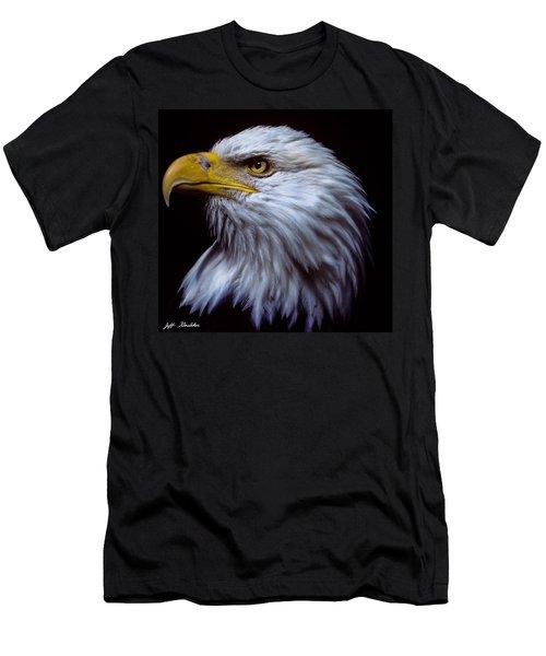Bald Eagle Men's T-Shirt (Slim Fit) by Jeff Goulden