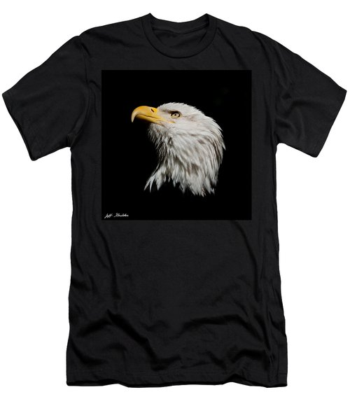 Bald Eagle Looking Skyward Men's T-Shirt (Athletic Fit)