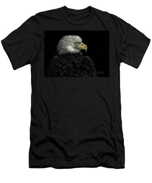 Men's T-Shirt (Slim Fit) featuring the drawing American Bald Eagle by Sandra LaFaut