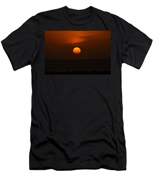 Men's T-Shirt (Slim Fit) featuring the photograph Ball Of Fire by Debra Martz