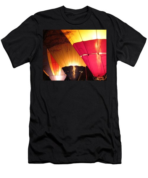 Balloons At Night Men's T-Shirt (Slim Fit) by Laurel Powell