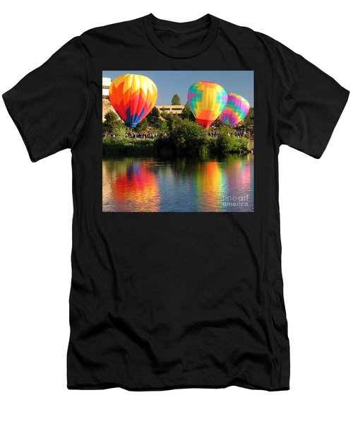 Men's T-Shirt (Slim Fit) featuring the photograph Balloons Over Bend Oregon by Kevin Desrosiers