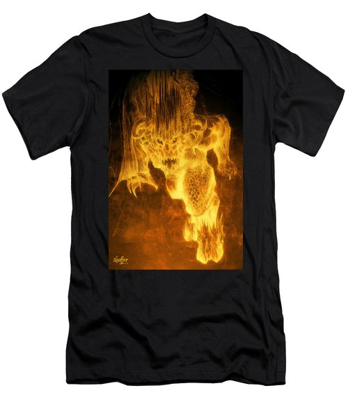 Balrog Of Morgoth Men's T-Shirt (Slim Fit) by Curtiss Shaffer