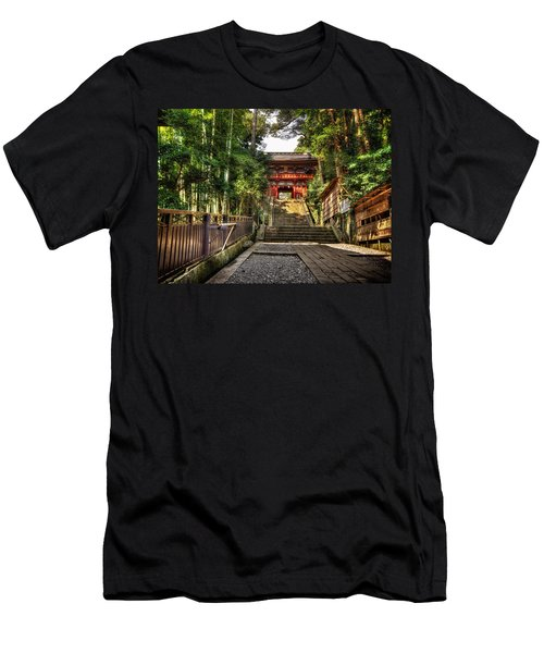 Men's T-Shirt (Slim Fit) featuring the photograph Bamboo Temple by John Swartz