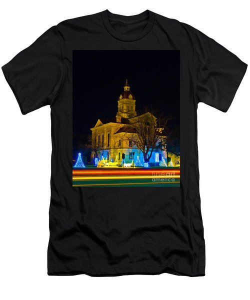 Bandera County Courthouse Men's T-Shirt (Athletic Fit)
