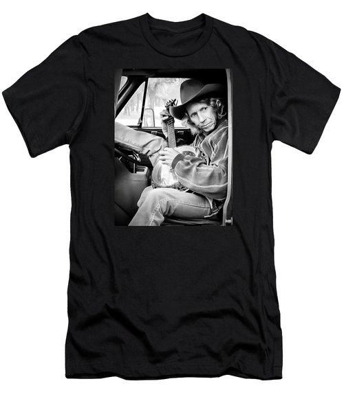 Banjo Man Men's T-Shirt (Slim Fit) by Darryl Dalton
