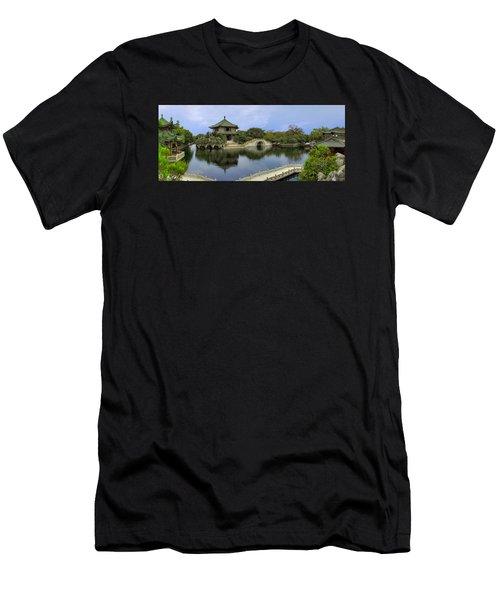 Baomo Garden Temple Men's T-Shirt (Athletic Fit)