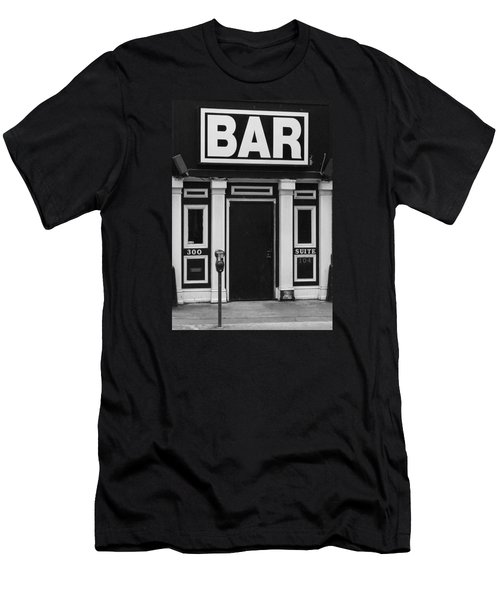 Men's T-Shirt (Slim Fit) featuring the photograph Bar by Rodney Lee Williams
