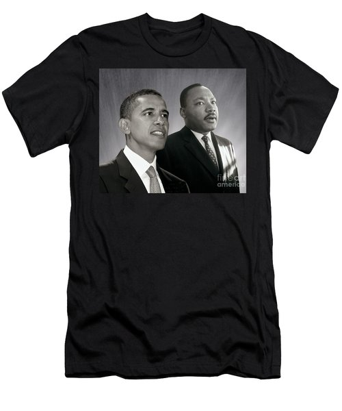 Barack Obama  M L King  Men's T-Shirt (Athletic Fit)