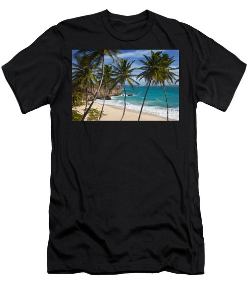 Men's T-Shirt (Athletic Fit) featuring the photograph Barbados Beach by Brian Jannsen