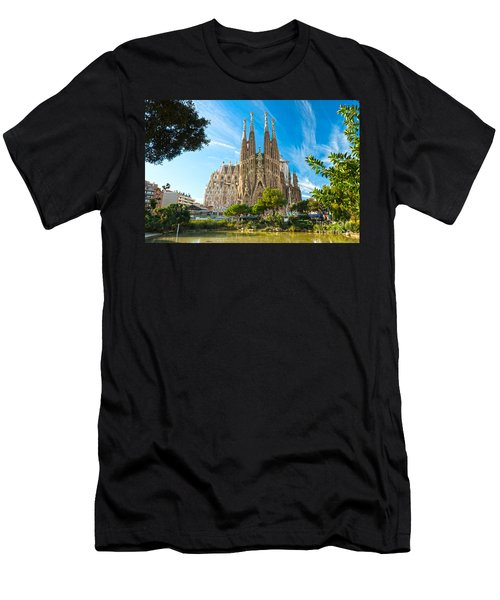 Barcelona - La Sagrada Familia Men's T-Shirt (Slim Fit) by Luciano Mortula