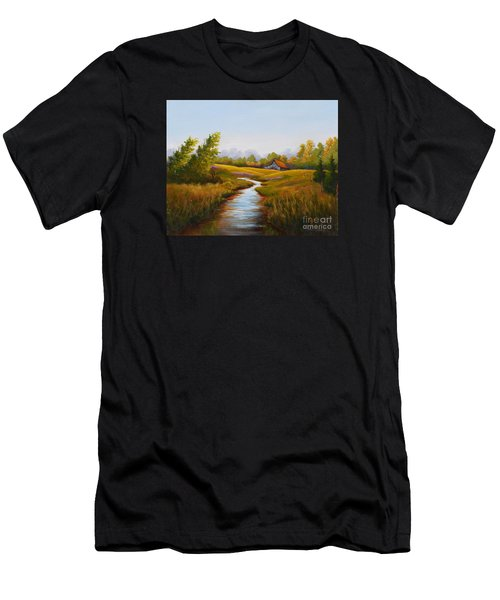 Barn And Stream Men's T-Shirt (Athletic Fit)