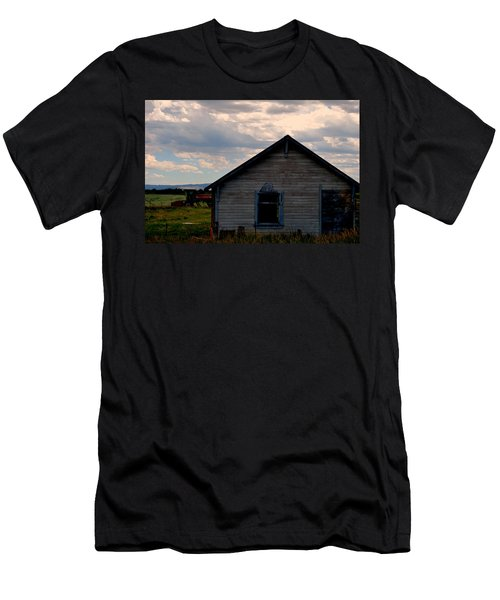 Men's T-Shirt (Slim Fit) featuring the photograph Barn And Tractor by Matt Harang