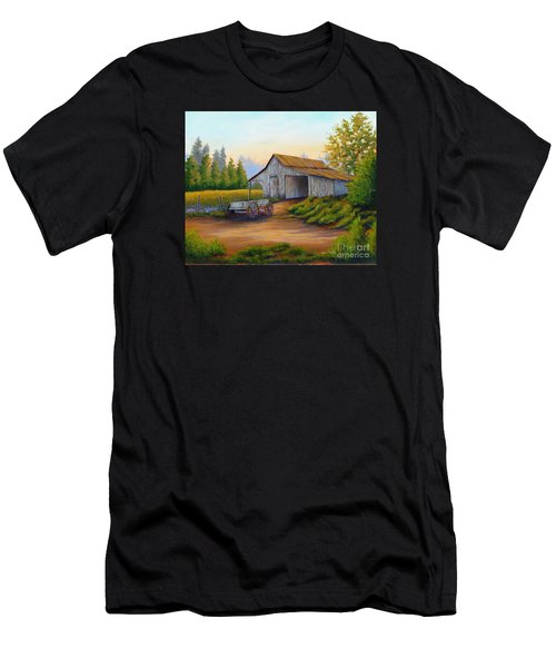 Barn And Wagon Men's T-Shirt (Athletic Fit)