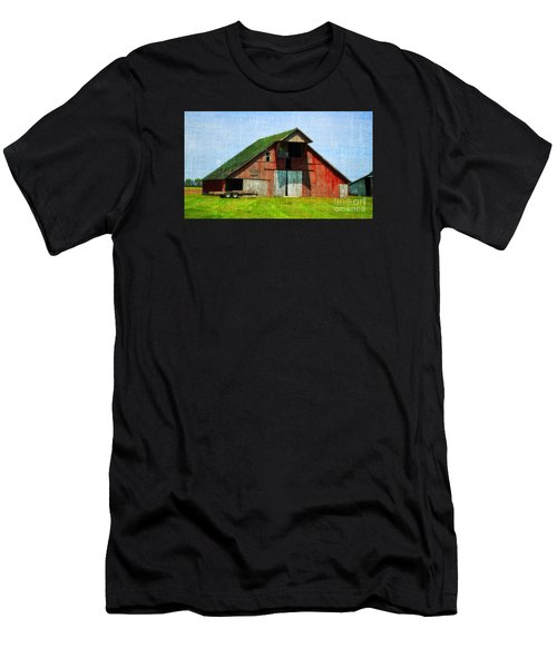 Barn - Central Illinois - Luther Fine Art Men's T-Shirt (Athletic Fit)