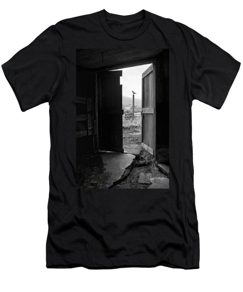 Barn Door - View From Within - Old Barn Picture Men's T-Shirt (Athletic Fit)