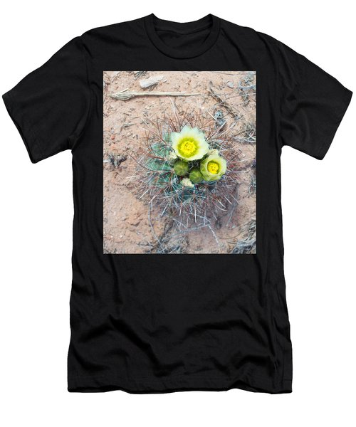 Barrel Cactus Blossoms Men's T-Shirt (Athletic Fit)