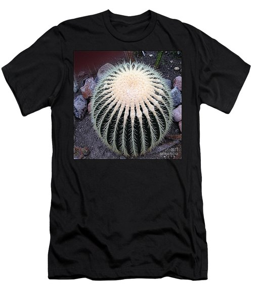 Men's T-Shirt (Slim Fit) featuring the photograph Barrel Cactus by Luther Fine Art