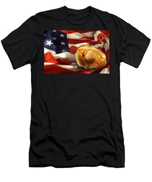 Baseball Men's T-Shirt (Slim Fit) by Les Cunliffe