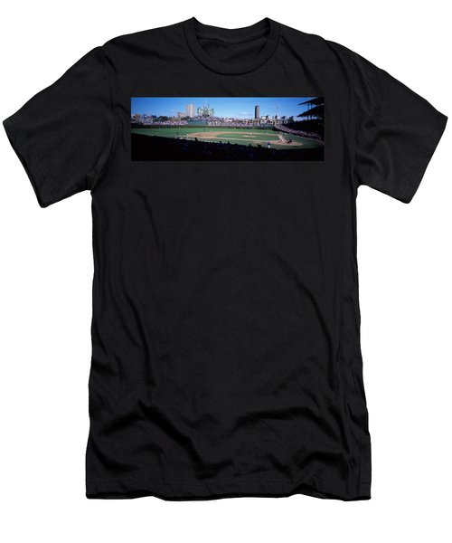 Baseball Match In Progress, Wrigley Men's T-Shirt (Slim Fit) by Panoramic Images