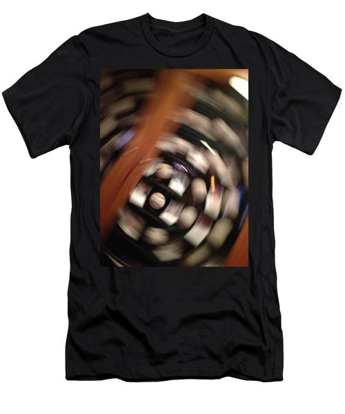 Baseball Swirl Men's T-Shirt (Athletic Fit)