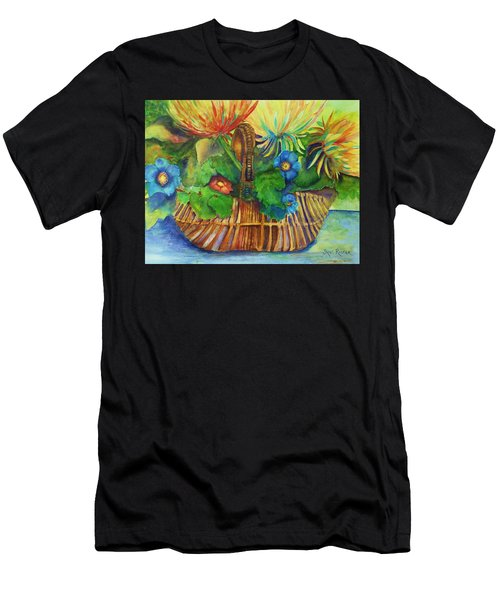 Flowers In My Basket Men's T-Shirt (Athletic Fit)