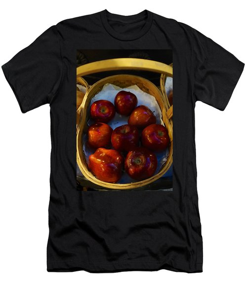 Basket Of Red Apples Men's T-Shirt (Athletic Fit)