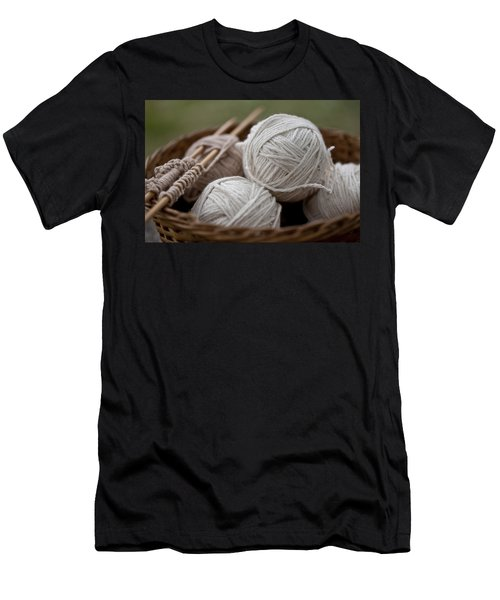 Basket Of Yarn Men's T-Shirt (Athletic Fit)