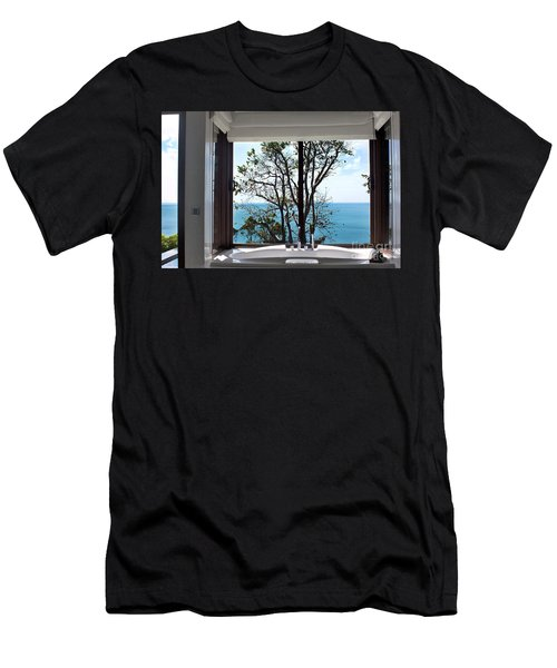 Bathroom With A View Men's T-Shirt (Athletic Fit)