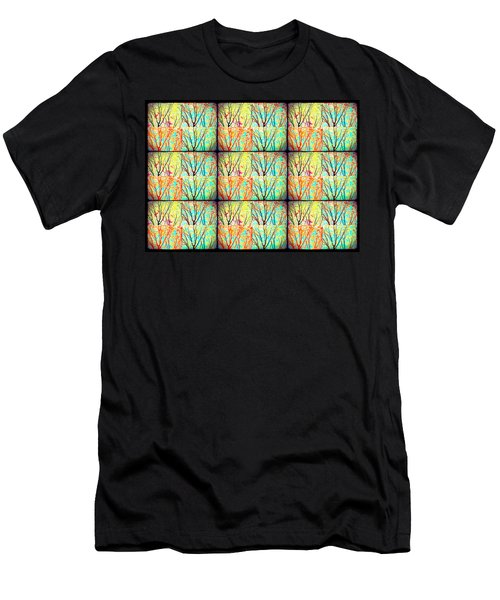 Batik Trees Collage Abstract Men's T-Shirt (Athletic Fit)