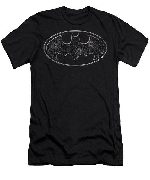 Batman - Glass Hole Logo Men's T-Shirt (Athletic Fit)