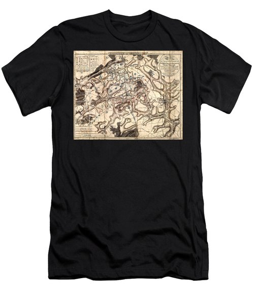 Battle Of Waterloo Old Map Men's T-Shirt (Athletic Fit)