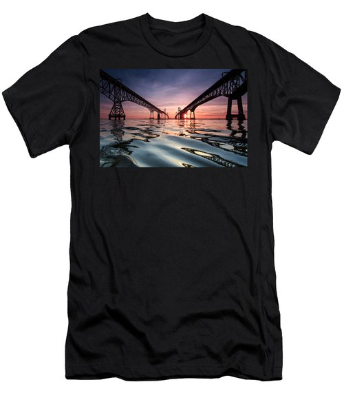 Bay Bridge Reflections Men's T-Shirt (Athletic Fit)