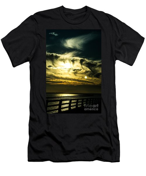 Bay Bridge Sunset Men's T-Shirt (Athletic Fit)