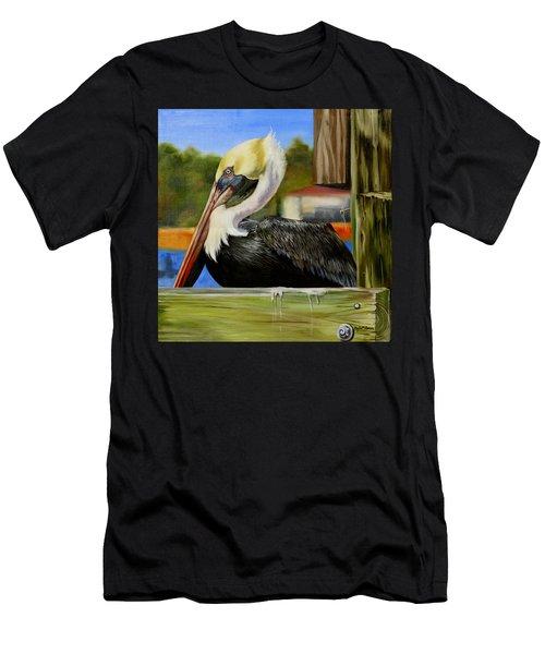 Bay St. Louis Pelican Men's T-Shirt (Slim Fit) by Phyllis Beiser
