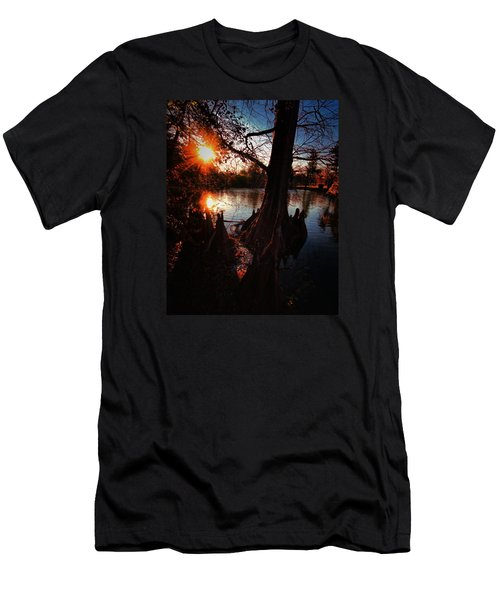 Men's T-Shirt (Slim Fit) featuring the photograph Bayou Sundown by Robert McCubbin