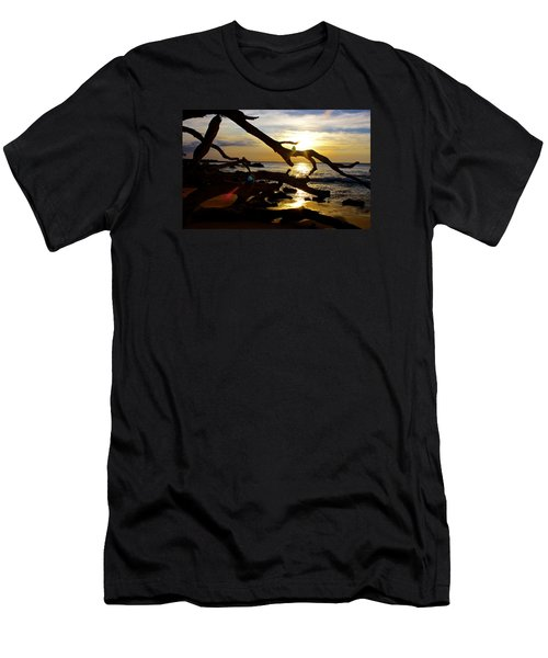 Beach 69 Hawaii At Sunset Men's T-Shirt (Athletic Fit)