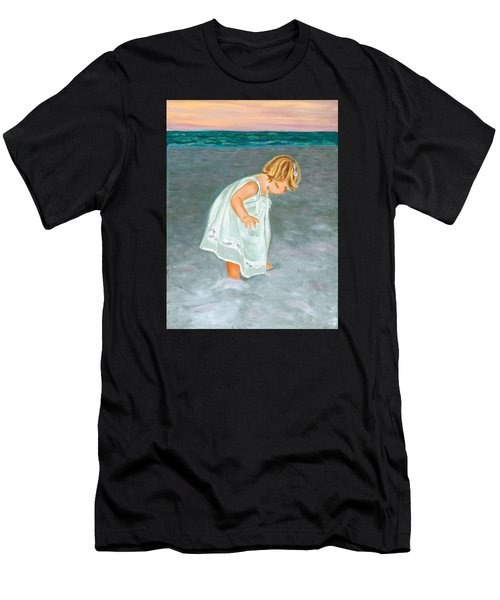 Beach Baby In White Men's T-Shirt (Athletic Fit)