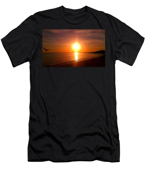 Men's T-Shirt (Slim Fit) featuring the photograph Beach by Chris Tarpening