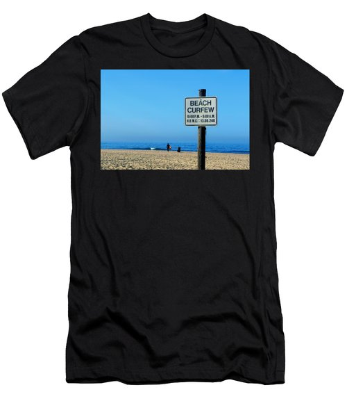 Beach Curfew Men's T-Shirt (Athletic Fit)
