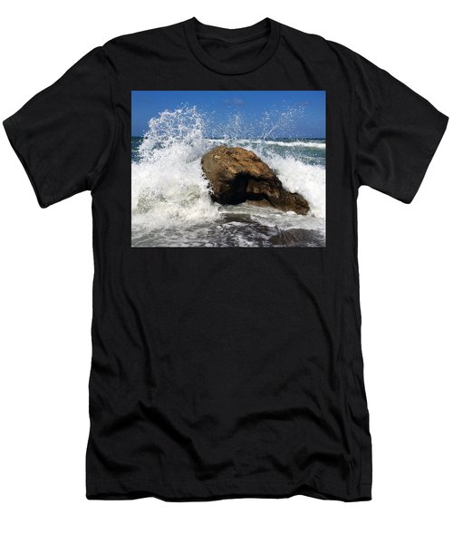 Beach Greece Men's T-Shirt (Athletic Fit)