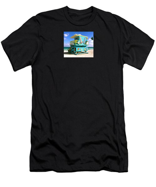 Beach Life In Miami Beach Men's T-Shirt (Athletic Fit)