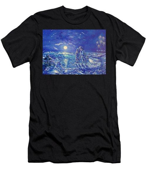 Beach Lites Men's T-Shirt (Athletic Fit)