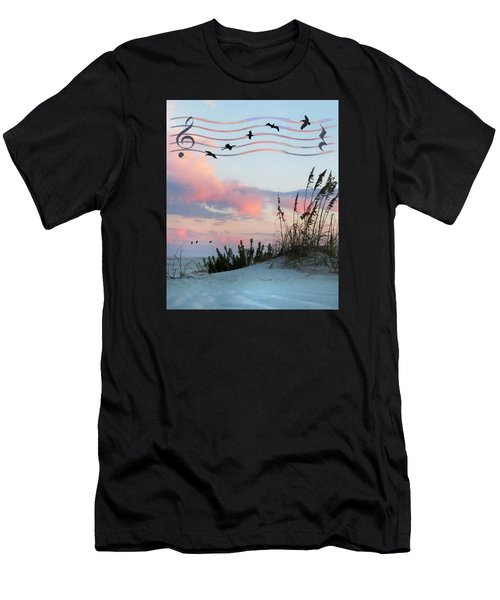 Beach Music Men's T-Shirt (Athletic Fit)