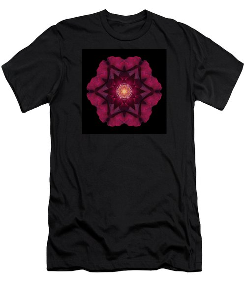 Men's T-Shirt (Slim Fit) featuring the photograph Beach Rose I Flower Mandala by David J Bookbinder